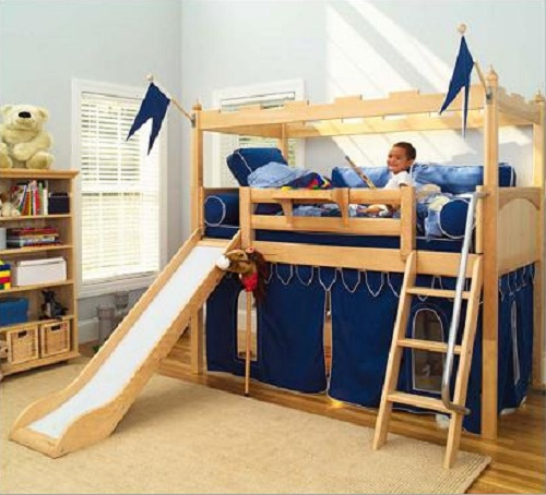 DIY Bunk Bed Plans Slide Wooden PDF garage toy box plans ...